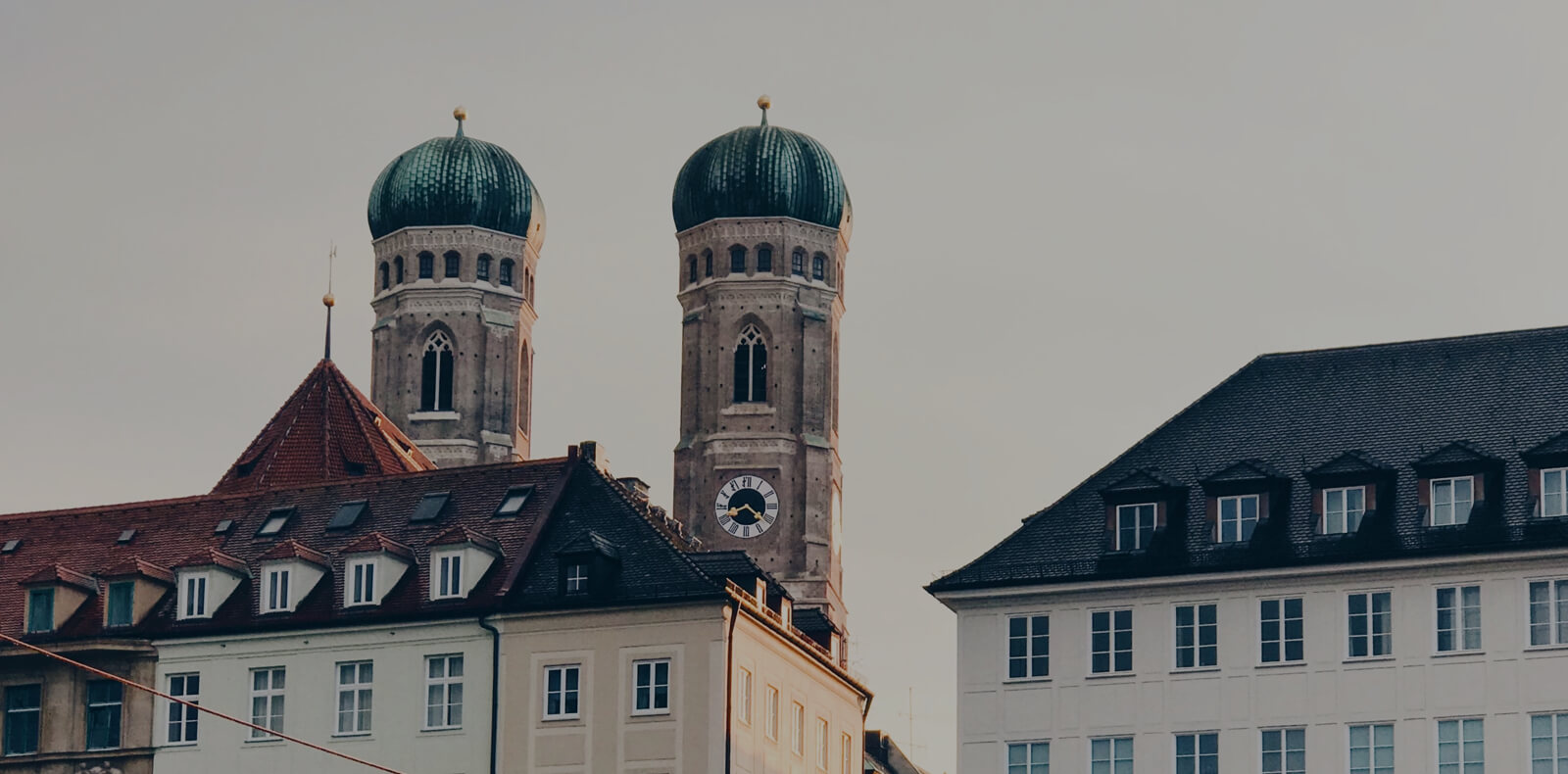 The two towers of the church Frauenkirche in Munich