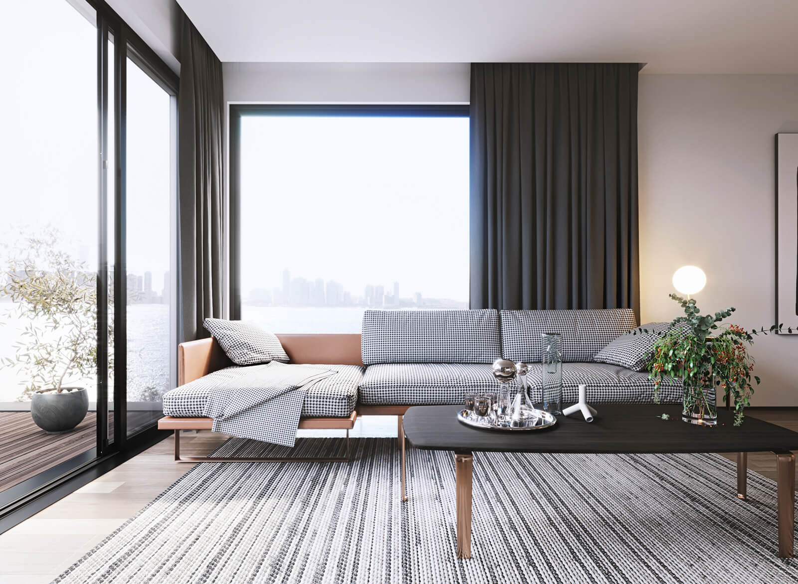 System Solutions implemented in a modern living room